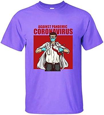 LXHcool contra la pandemia COV_ID-19 Sobrevivieron I Camiseta Unisex de la Enfermera Camiseta de la Camiseta (Color : Purple, Size : M): Amazon.es: Hogar