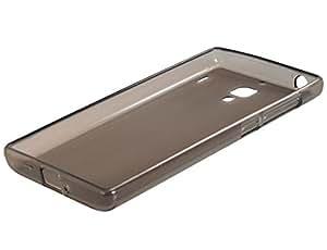 Transparent TPU Rubber Case for Xiaomi Hongmi Red Rice (Transparent Black)