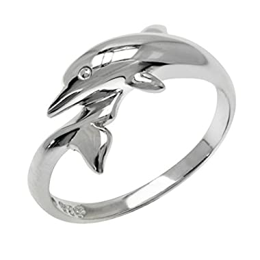 Sterling Silver Dolphin Wrap Ring (6) check