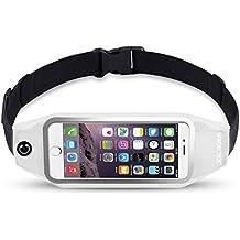 ufashion3C Running para cinturón para iPhone 76S 6PLUS, SAMSUNG GALAXY S8Plus, S7edge, Note 5,4,3, LG G6, G5, G4, G3–Resistente al agua reflectante con cierre cintura Fanny Pack para entrenamiento & Fitness, Mujeres & Hombres