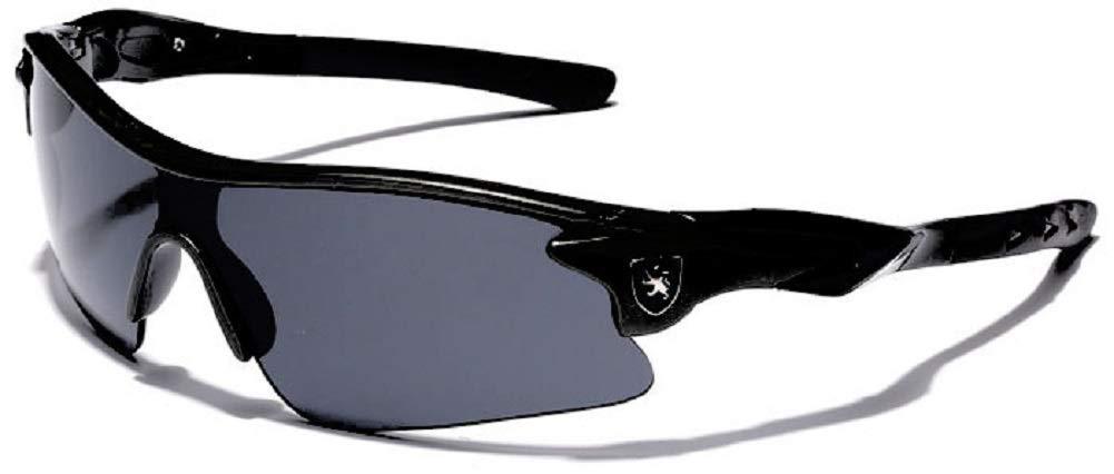 Half Frame Kids Teen Age 8-16 Performance Baseball Cycling Running Sport Sunglasses (Black | Smoke, 145)