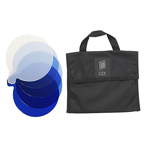 Litepanels Inca 4 5 Piece CTB Gel Set with Gel Bag | Lighting Blue Gel Set for Inca 4 900-6226 by Lite Panels