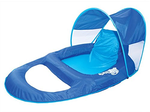 SwimWays Spring Float Recliner Pool Lounge Chair w/ Sun Canopy (2 Pack) | 13022 by SwimWays (Image #3)