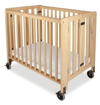 Foundations Hideaway - Folding Fixed-side, Crib - Full-size, Natural, Foundations Hideaway Crib.