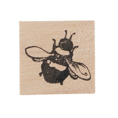 Baosity 1x Rubber Wooden Stamps Animal Plants Seal Wax Stamp for Crafts Card Making - Bee, 30x30x23mm
