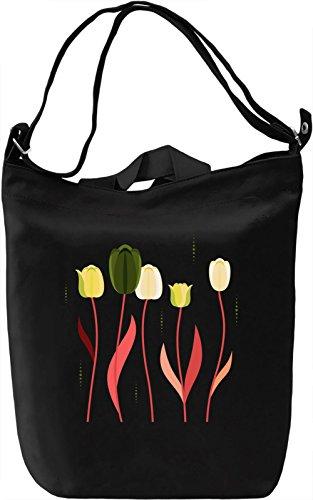 Colourful Tulips Borsa Giornaliera Canvas Canvas Day Bag  100% Premium Cotton Canvas  DTG Printing 
