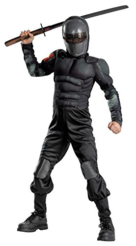 GI Joe Retaliation Muscle Chest Kids Snake Eyes Costume - Child Superhero Costumes]()