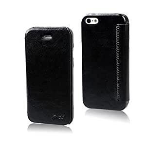 DD Solid Color PU Leather Full Body Protective Case for iPhone 5/5S(Assorted Color) , Black