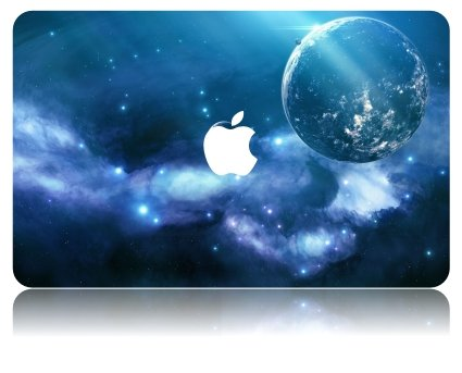 KEC MacBook Pro Retina 15 Inch Case Plastic Hard Shell Cover Protective A1398 Space Galaxy - Earth Rainbow