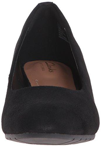 Clarks - - Chaussure Femme Vendra Bloom pour Femme Black Suede dpVo6Tm
