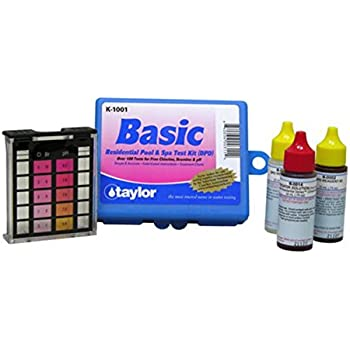 Taylor k 1001 dpd complete basic residential swimming pool spa 3 way test kit for Swimming pool test kits amazon