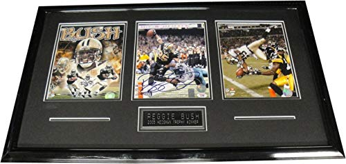 (Reggie Bush Hand Signed Autographed 8x10 Framed Photo W/ 2 8x10's Saints - PSA/DNA Certified - Autographed NFL Photos)