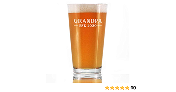 16 oz Beer Can Glass Best Buckin Grandpa Ever Grandfather Grandpa