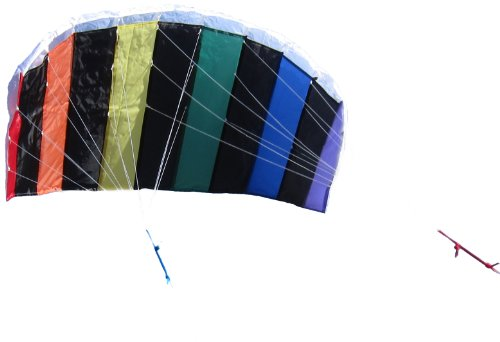 In the Breeze 2972 Rainbow Dial Line Stunt Parafoil Kite, 50-Inch