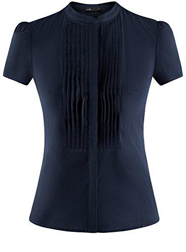 Ultra Bleu Surpiq Textur de Femme 7900n Chemisier avec Poitrine res oodji 4xwOaqdnTa