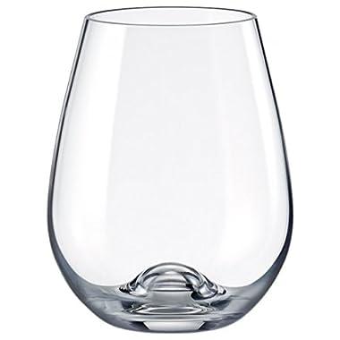 Rona Slovakia - Lead Free Crystal Stemmless Wine Glass, Set of 4