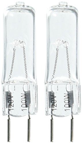 eTopLighting(2 Pack) G8-120V-100W, JCD Type Clear Halogen Bulb G8 Bi-Pin Base, 100 Watt 120 Volt, G8-120V-100W(2) (130v G8 Halogen Bulb)