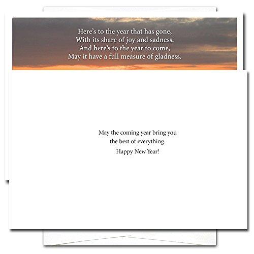 Sunset - New Year Holiday Cards, box of 10 cards & envelopes Photo #2