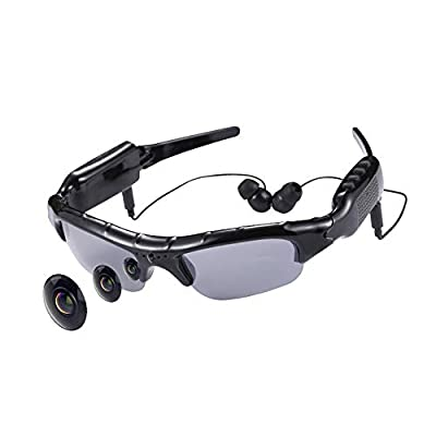 Smart Bluetooth Video Glasses, Multi-Function Wireless Calling Universal Polarized Sunglasses, 1080P Sports Camera, Suitable for Driving, Outdoor Fishing, Travel ZDDAB