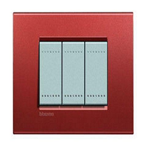 46 opinioni per BTicino Living Light LNA4803RK Placca Quadra 3P, Brick
