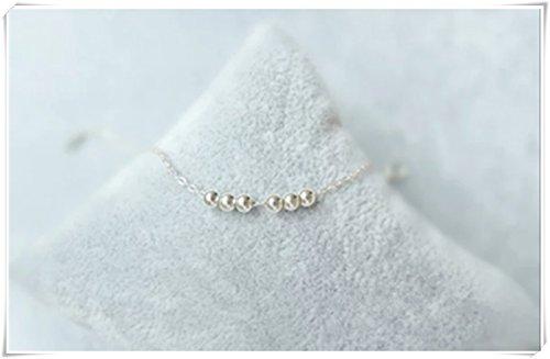 Sterling Silver Toggle Bracelet / Beaded Toggle bracelet