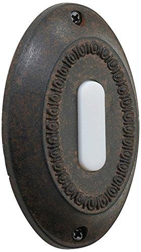 - Quorum International 7-307-44 Basic Oval Button, Toasted Sienna
