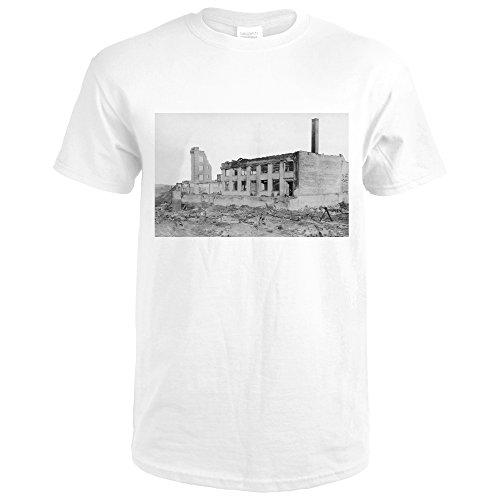 Astoria  Oregon Fire View Of Astoria Natl  Bank Photograph  Premium White T Shirt X Large