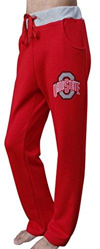 Corgeous Women's Ohio State Buckeyes Pajamas Trousers Warm Fleece Pants - Grey & Red (Size: XXL) (Ohio State Pajama)