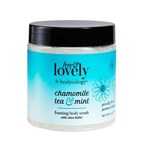 Chamomile Mint Scrub - bodycology Free & Lovely Chamomile Tea & Mint Foaming Scrub 10.5 fl oz, pack of 1