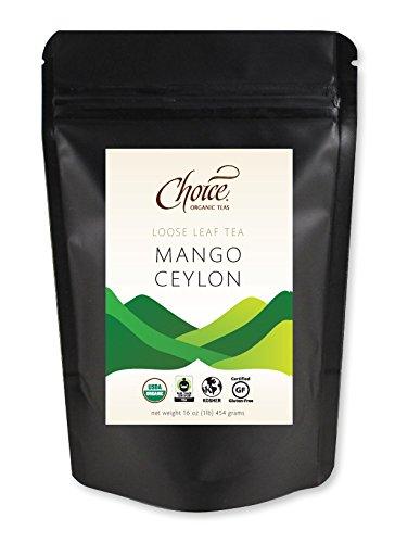 Choice Organic Teas Loose Leaf Black Tea, Mango Ceylon, 1 Pound