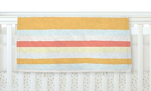 KESS InHouse Nika Martinez Sand Stripes Fleece Baby Blanket 40 x 30 [並行輸入品]   B077ZQ56RZ