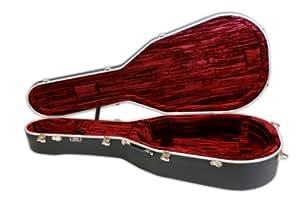 hiscox artist acoustic guitar case dreadnought la gad black red musical instruments. Black Bedroom Furniture Sets. Home Design Ideas