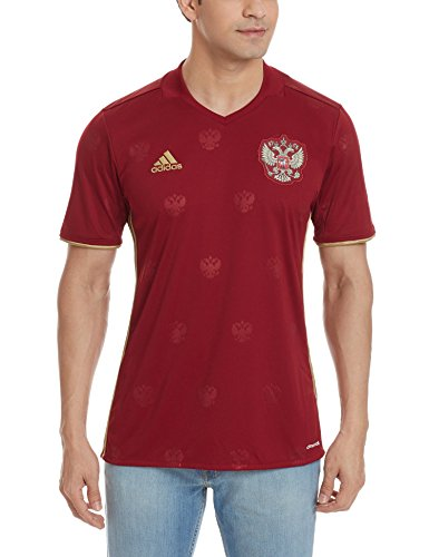adidas Herren UEFA EURO 2016 Russland Heimtrikot Replica, Rot/Gold, M, AA0353