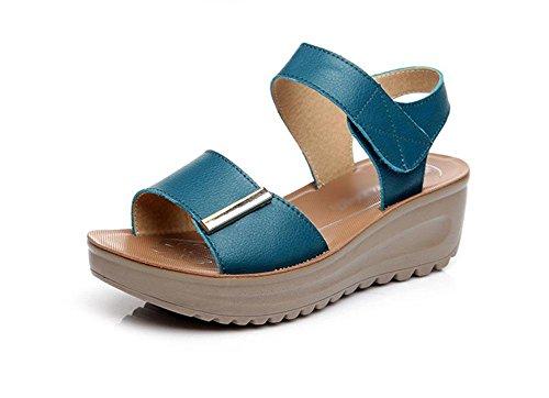 Con B Fondo De Las Pendiente Plataforma Silvestres Zapatos Grueso Sandalias Planas qx6pdH