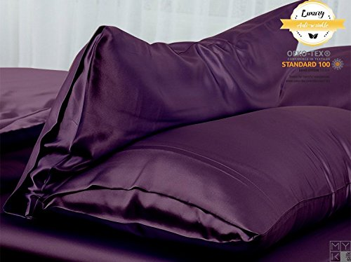 MYK 100% Pure Natural Mulberry Silk Pillowcase, 25 Momme Both Side for Hair and Skin Care, Queen Size 20