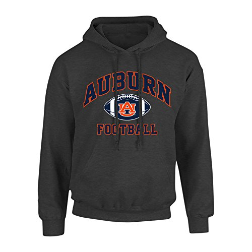 (Elite Fan Shop Auburn Tigers Hooded Sweatshirt Football Heather Gray - L )