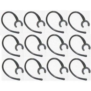 12 Samsung Wep480 / Wep490 Black No-break® Replacement Ear Hook Earhook for Samsung WEP 480 490 Made Exclusively By Gadgetbrat® + White Earhook