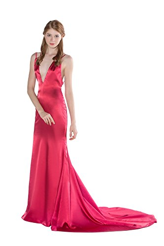 Celebrity Inspired Prom Dresses (Chic Backless Long Sheath Satin Celebrity Inspired Prom Dress)