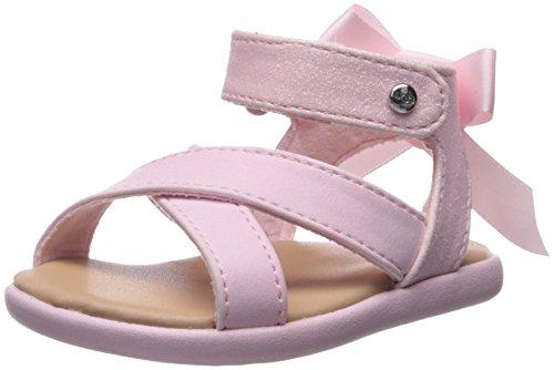 UGG Girls I Maggiepie Sparkles Flat Sandal, Seashell Pink, 2-3 M US Infant