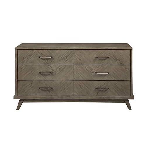 Bedroom Homelegance 6-Drawer Dresser, Gray dresser