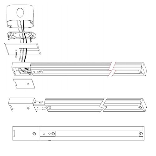 WAC Lighting LLE-WT L Track Live End Connector, White by WAC Lighting (Image #2)