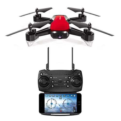 Kanzd FQ40 2.4G 720P Wide-Angle WiFi HD Camera Drone RC Helicopter Quadcopter Hover (Red) ()