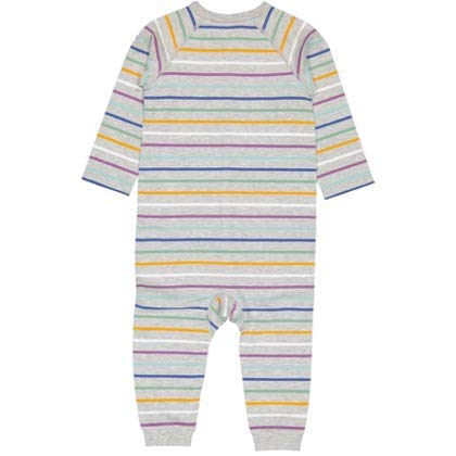 0-12MOS Pyret Limited Edition Stripe SNAP Front ECO Romper Polarn O