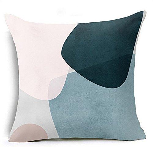 Ninasill Throw Pillows Geometric Pillow Case Waist Cushion Cover Sofa Home Decor Texture Super Soft Pillowcase]()