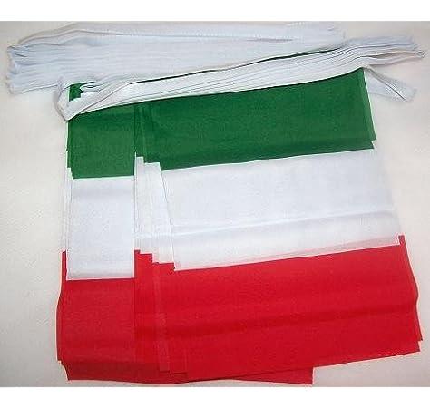 AZ FLAG Guirnalda 6 Metros 20 Banderas de Italia 21x15cm - Bandera Italiana 15 x 21 cm - BANDERINES: Amazon.es: Hogar