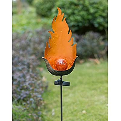 BOAER Garden Solar Lights Stakes Outdoor,Waterproof Flickering Flames Fire Lights Landscape Lights Decorative for Patio Yard Pathway Walkway-Dusk to Dawn Auto On/Off-7 Lumens