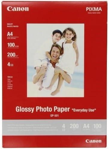 Canon GP-501, Papel Fotográfico A4 con Brillo (100 hojas, 200g/m2 ...