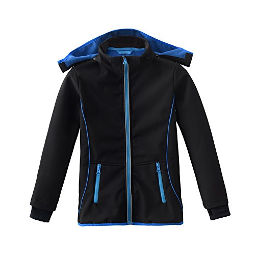 Waterproof Jacket Winter (M2C Boys & Girls Hooded Fleece Lined Waterproof Windproof Jacket 5T Black)