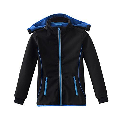 Winter Jacket Waterproof (M2C Boys & Girls Hooded Fleece Lined Waterproof Windproof Jacket 5T Black)