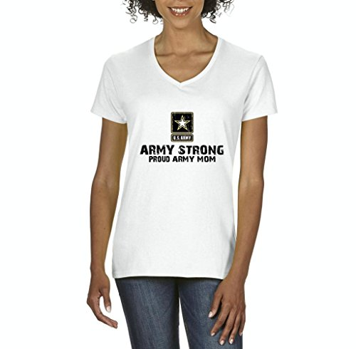 The Hobbit Costume Design (Xekia U.S. Army Star Army Strong Proud Army Mom Fashion People Couples Best Friend Gifts Women's V-Neck T-Shirt Tee Clothes Large White)